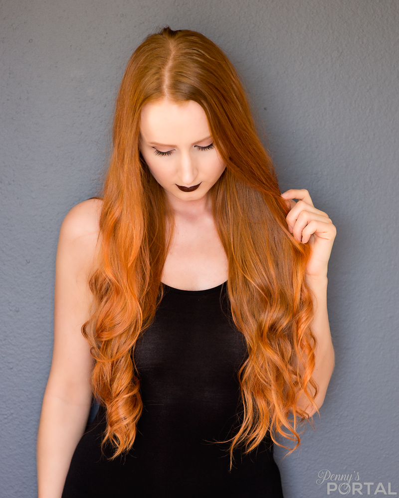 Young woman with orange/ginger hair